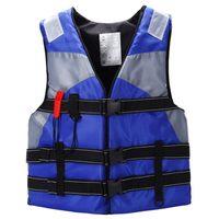 新しい販売自動大人のセーリングスイミングライフジャケットベスト泡フローティング防水オックスフォードで笛(ブルー/レッド/オレンジ)
