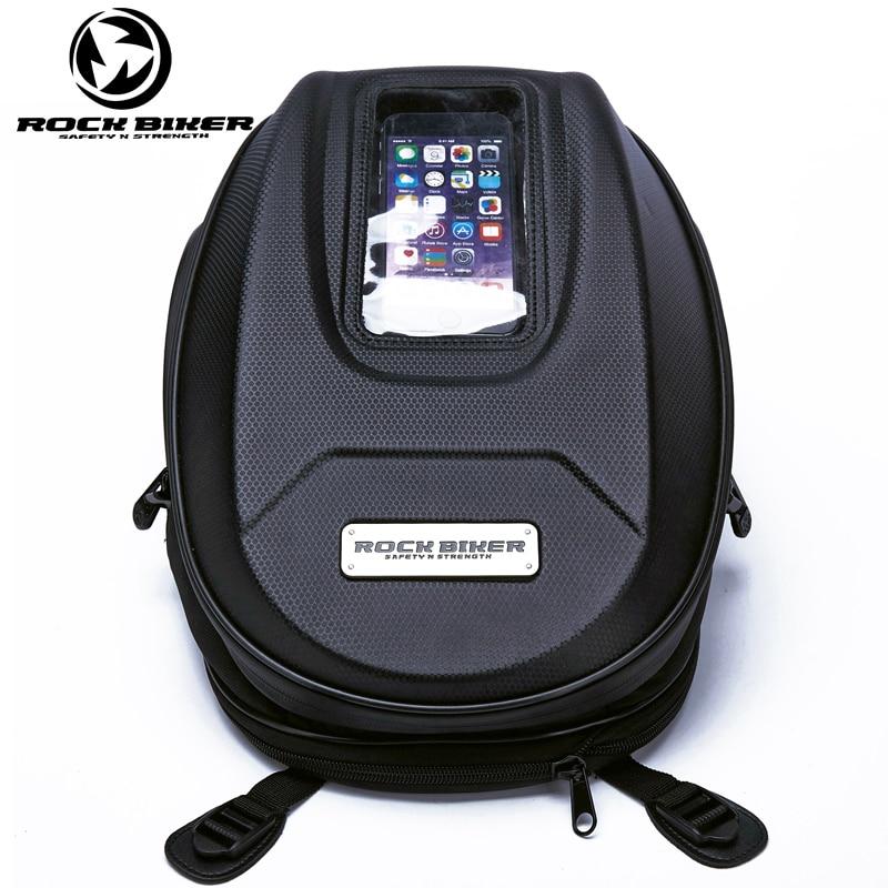 ROCKBIKER Motorcycle Tank Bag Big Screen Navigation Bag Motorcycle Saddle Bag Waterproof Tail Luggage oil sacoche