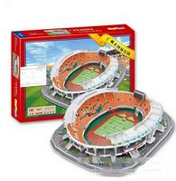 3D Puzzle DIY Toy Paper Building Model China Guangzhou Tianhe Sports Center Football Stadium Assemble Game