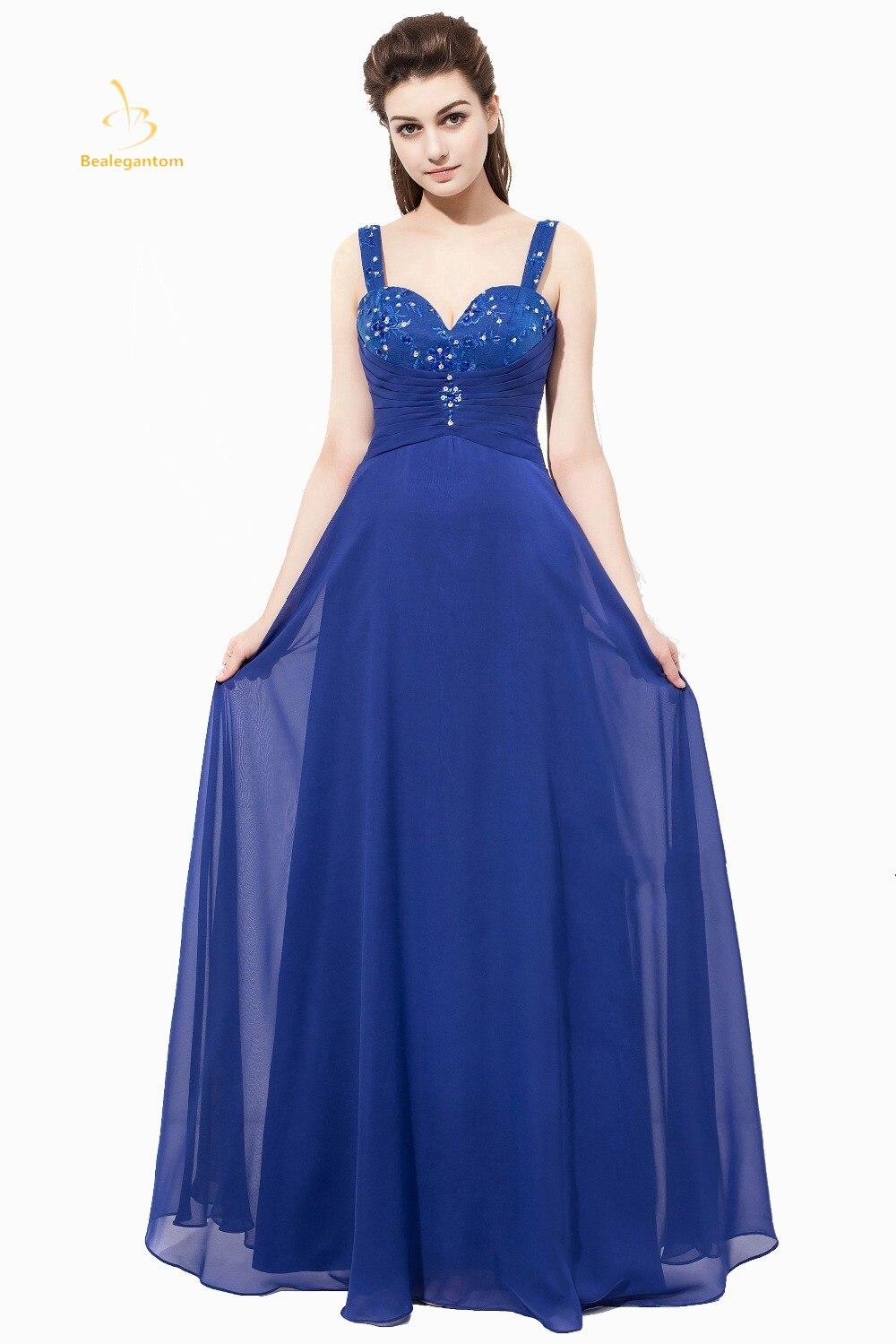 Bealegantom Real Photo 2019 robes de bal bleues à lacets robes de soirée formelles Vestido en Stock QA1372