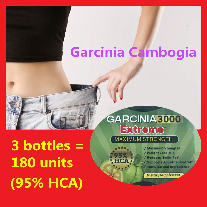 3 bottles = 180 units Pure Garcinia cambogia weight loss diet patch Burn Fat ( 95% HCA ) Slimming for women 7 1oz 200g hoodia gordonii extract powder natural fat burners for weight loss free shipping