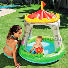 High quality children's swimming pool Castle baby sunshade top pool sea pool basin Wanshui toys free shipping