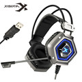 New XIBERIA X13 Pro USB 7.1 Sourround Stero Gaming Headphone Cancelling Nosie Computer PC Gamer Heavy Bass Headset With Mic LED