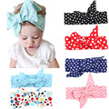 Fashion polka Dot Turban Knot Baby Girls Headband For Newborns Headwrap  DIY Hair Head Band Brand New  hair accessories