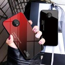 цена на Tempered Glass Case for Motorola MOTO G6 Plus G6+ Gradient Color Hard Back Cover Soft TPU Silicone Bumper For MOTO G6 Plus Case