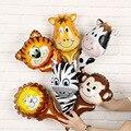 1 комплект, ручная голова драпировки в джунглях, тигровый Лев, искусственный шар, украшение для детского дня рождения, сафари, зоопарк, globos