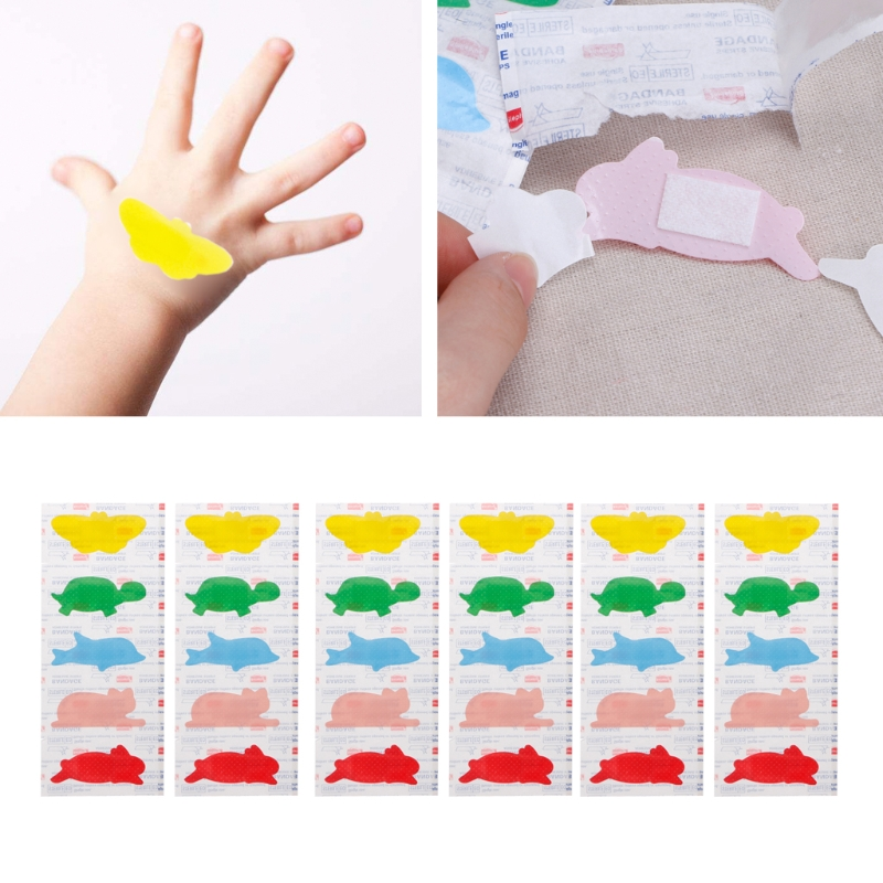 NEW 30PCS/pack Cartoon First Aid Band Medical Waterproof Adhesive Bandages For Baby