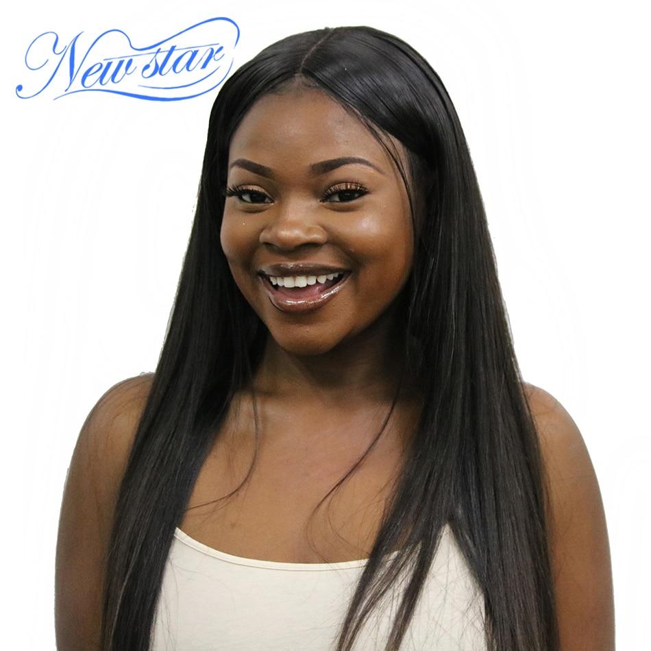 New Star Peruvian Straight Virgin Hair Weaving Natural Color 1/3/4 Piece 100% Unprocessed 10A Human Raw Hair Weft Bundles