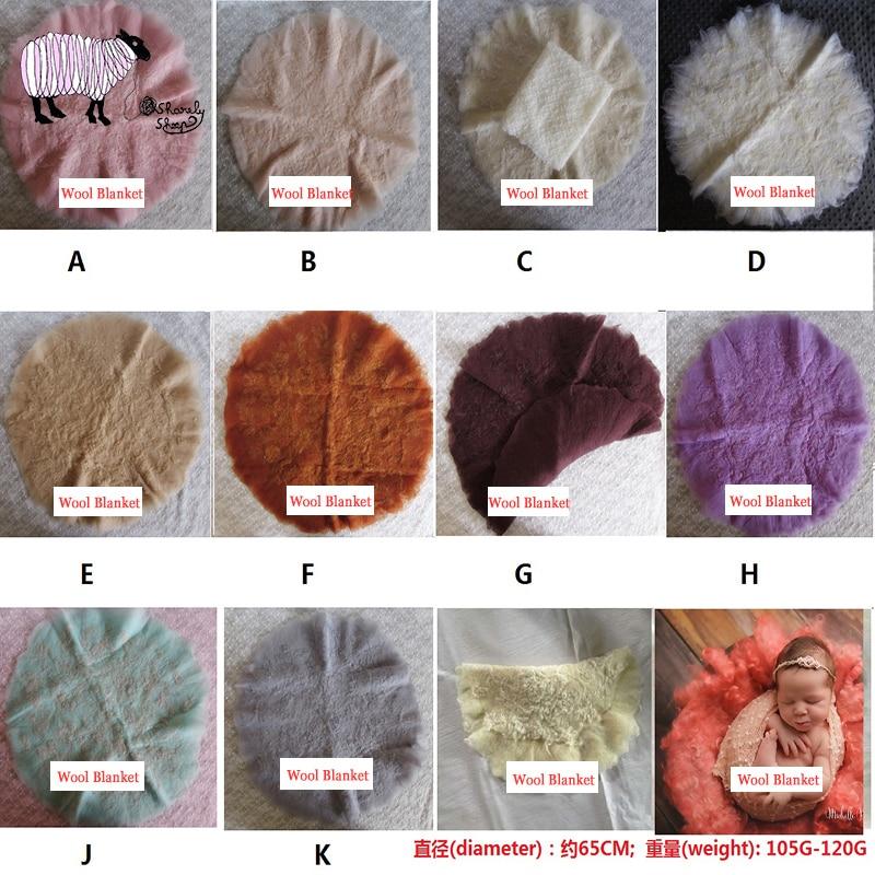 Newborn Baby Photography Merino Wool Blanket Props Baby Photo Shoot Studio Posing Wool Fur Basket Filler Infant bebe fotografia