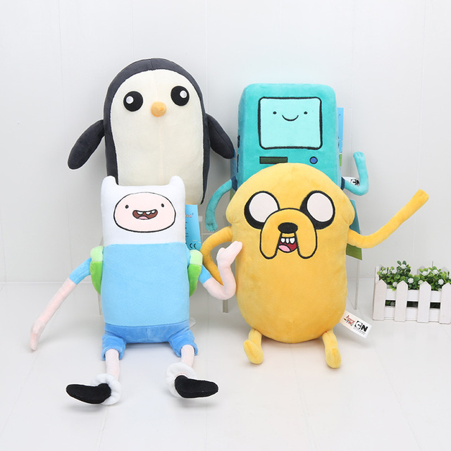 8b0bf8fc54d 4pcs lot Big Size 24-43cm Adventure Time Plush Toys Finn Jake BMO Beemo