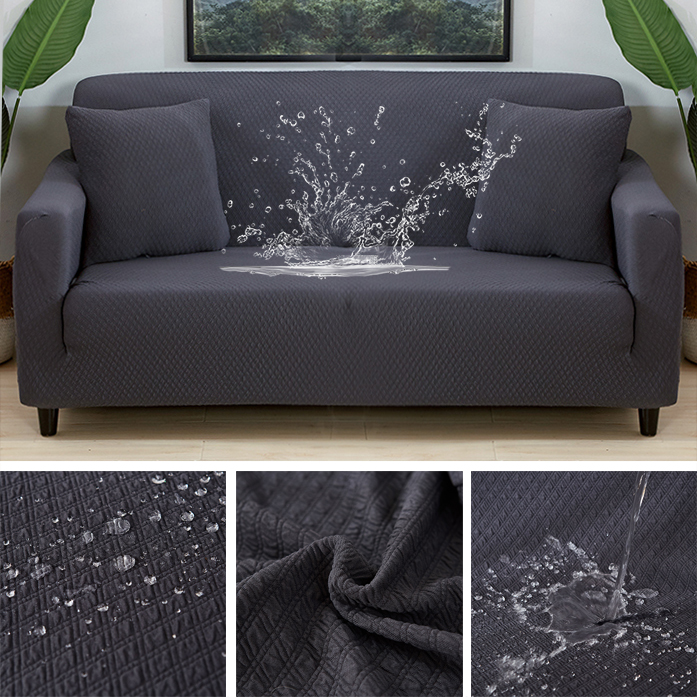 Lellen Waterproof and oil proof Anti pet sofa cover Couch covers solid color stretch Furniture stretch