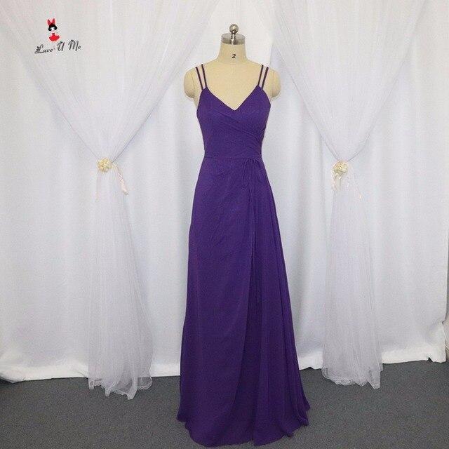 Vestido de Festa de Casamento Marineblau Lila Brautjungfer Kleider ...