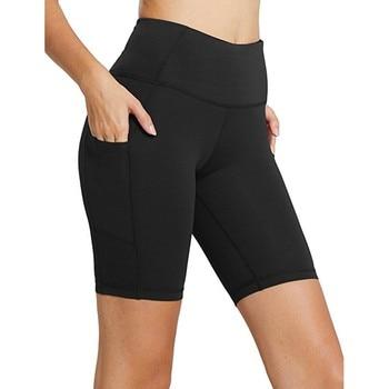 High Waist Elasticity Yoga Shorts Sport Leggings Workout Out Pocket Leggings Fitness Sports Gym Running Yoga Athletic Shorts #SW 1