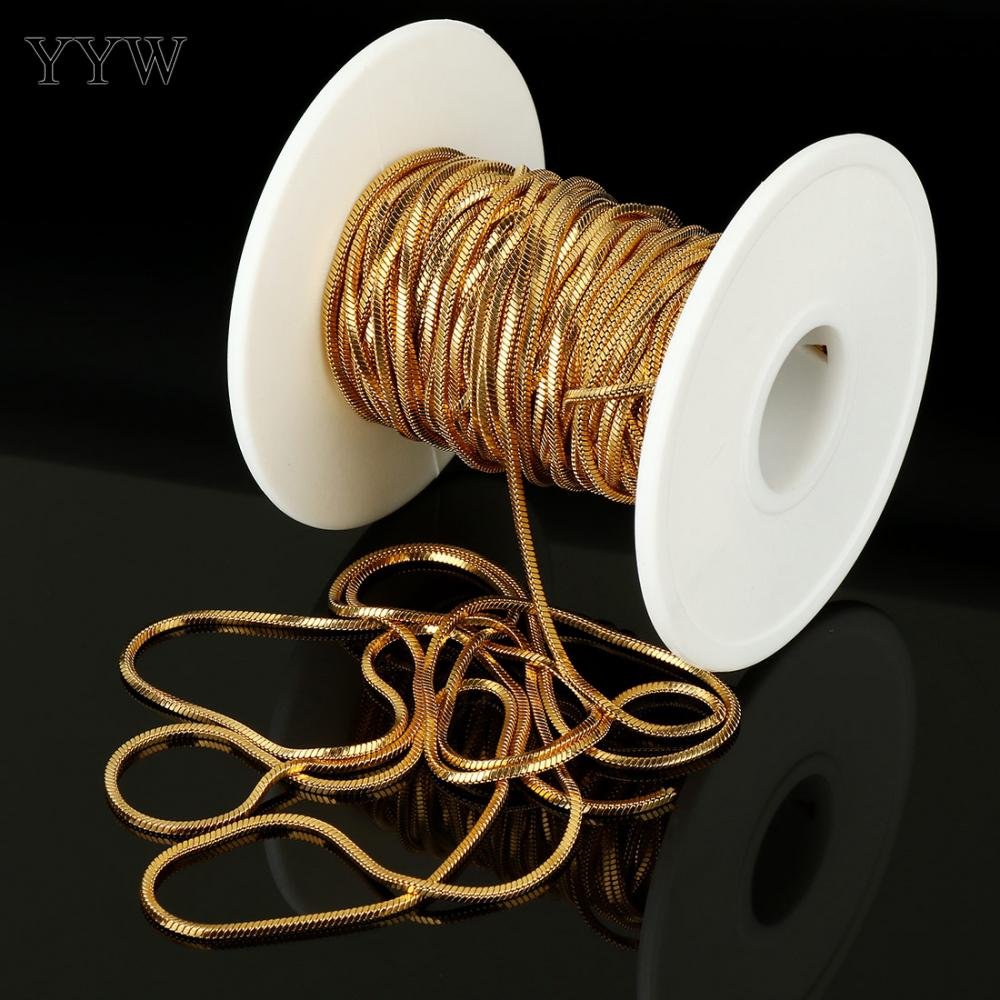 Acier inoxydable collier Bracelet faisant des chaînes 10 m/bobine couleur or chaîne pour la fabrication de bijoux femmes hommes fait à la main matériel