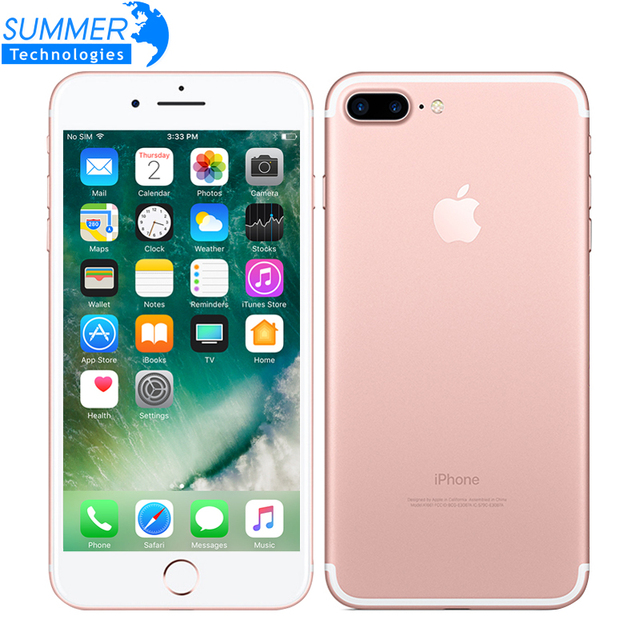 Для Apple iPhone 7 Plus Quad-Core 5,5 дюймов, 3 Гб оперативной памяти, Оперативная память 32/128 ГБ/256 IOS LTE 12.0MP Камера iPhone7 Plus смартфон с отпечатками пальцев