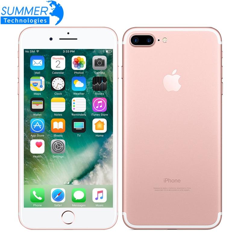 Apple iPhone 7 Plus Quad-Core de 5.5 polegada 3 GB RAM 32/128 GB/256 GB IOS câmera 12.0MP iPhone7 Além da Impressão Digital de Smartphones LTE