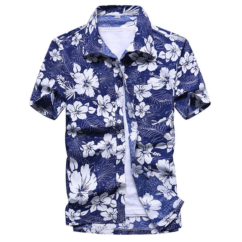 cd7494925ee6 Dropwow Mens Summer Fashion Beach Hawaiian Shirt Brand Slim Fit ...