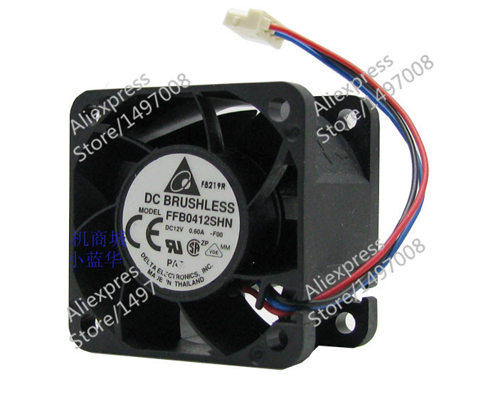 Free Shipping For DELTA  FFB0412SHN, -F00  DC 12V 0.60A, 40x40x28mm 40mm 3-wire 3-pin connector Server Square fan free shipping for delta afc0612db 9j10r dc 12v 0 45a 60x60x15mm 60mm 3 wire 3 pin connector server square fan