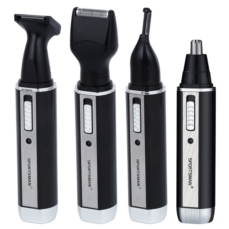 Upgrade 4 In 1  Ear Nose Trimmer Electric Shaver Beard Face Eyebrows Nose Ear Hair Trimmer Automatic Removal Shaver For Men