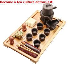 Женский керамический чайник бамбуковый чайный поднос чашки с