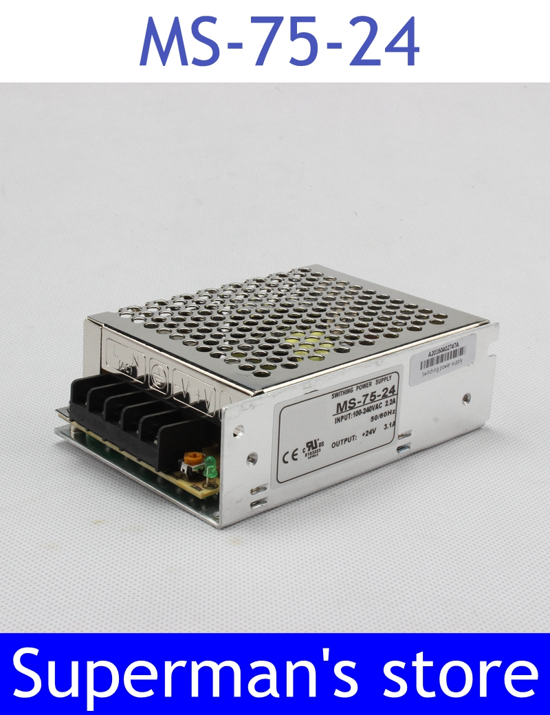 power supply 24v 75W 24v  3.2a  mini size ac dc converter power supply unit ms-75-24  24v variable dc voltage regulator mini adjustable dc power supply laboratory power supply digital variable voltage regulator 30v10a four display ps3010dm