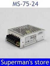 Fuente de alimentación 24 v 75 W 24 v 3.2a tamaño mini ac dc convertidor de fuente de alimentación unidad de ms-75-24 mean well 24 v regulador de voltaje de corriente continua variable