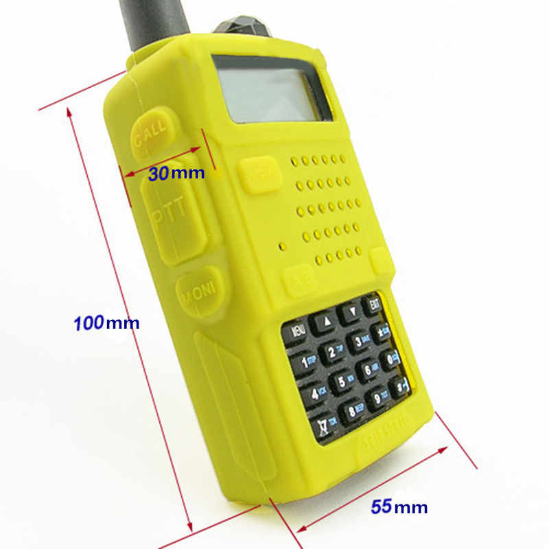 5 Colors New Soft Handheld Rubber Silicone Case For Baofeng UV-5R UV-5RA UV-5RB UV-5RC UV-5RD UV-5RE BF-F8+ THF8 Radio Bag Case