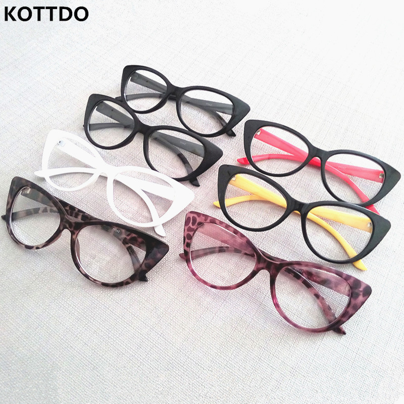 Glasses Frames For 60 Year Old Man : KOTTDO Fashion Optical Computer Eyeglasses Cat Eye Brand ...
