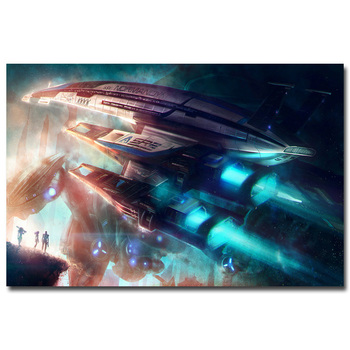 Плакат гобелен шелковый Mass Effect вариант 4