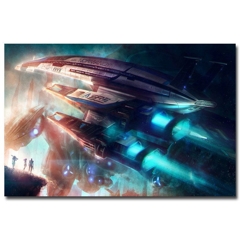 Mass Effect SR1 2 3 4 Hot Shooting Game Art Silk Poster Print 12x18 24x36inch Wall Pictures For Bedroom Living Room Decor 038 image