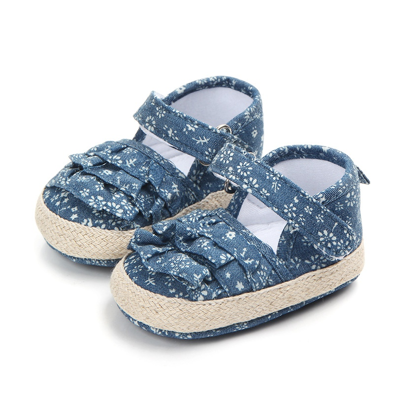 Denim Shoes Princess For Girls Soft Soled Baby Girls Shoes Summer Cotton Newborn Girl First Walkers Summer Shoes