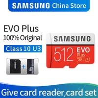 Карта памяти Samsung Micro SD карты памяти EVO PLUS 512 ГБ SDHC/SDXC Класс Class10 C10 UHS-1 TF карты Модуль памяти TransFlash 4 K microsd