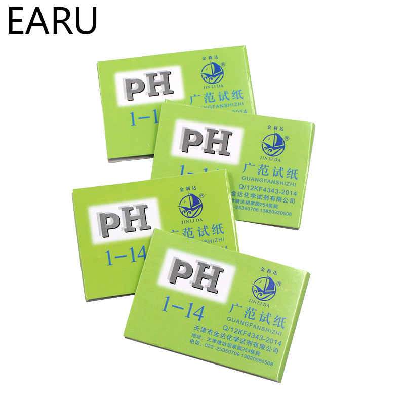 80 strisce Misuratori di Ph Indicatore di Carta Valore di PH 1-14 Cartina di Tornasole Test Tester di Carta Urine Salute e Bellezza di Carta Acqua Soilsting Kit