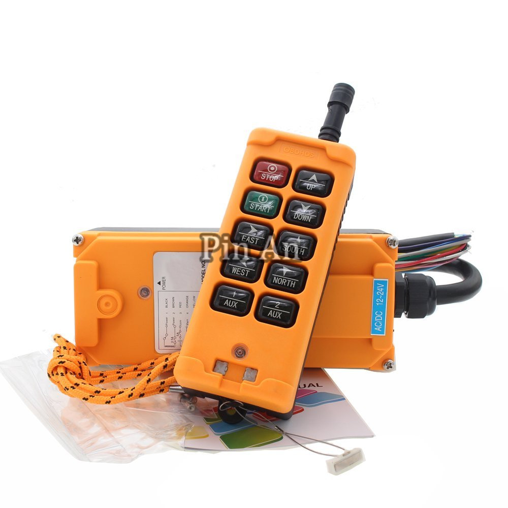 10 Key Hoist Crane Radio Wireless Remote Control Industrial Transmitter&Receiver (AC/DC12-24V)10 Key Hoist Crane Radio Wireless Remote Control Industrial Transmitter&Receiver (AC/DC12-24V)