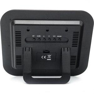 Image 4 - Tempo controlado rádio dcf rcc relógio de parede digital com temperatura termômetro higrômetro umidade/mesa decorativa despertador