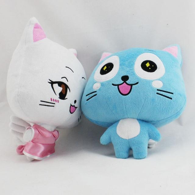 "12"" 30cm Japanese Anime Fairy Tail Happy Plush Toy Blue"