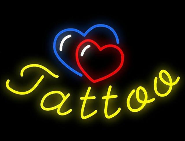 Custom Tattoo Neon Light Sign Beer Bar