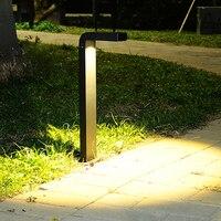 Thrisdar zewnętrzna wodoodporna lampa ogrodowa 7 kształt aluminiowa lampa na filarze dziedzińca willa trawnik krajobrazowy ścieżka bolllards Light w Lampy LED na trawnik od Lampy i oświetlenie na