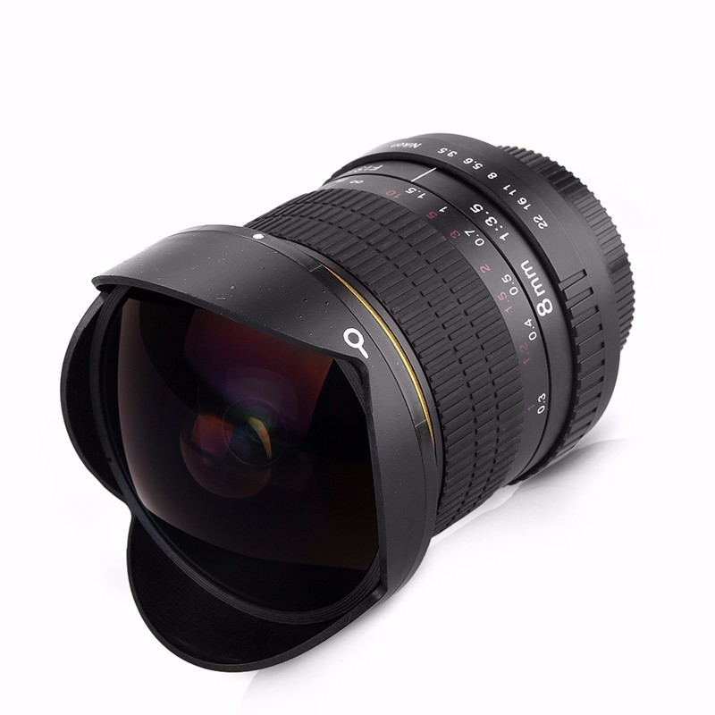 8mm F/3.5 Ultra Wide Angle Fisheye Lens for APS-C/ Full Frame Nikon D800 D700 D30 D50 D5500 D7000 D70 D90 D3 DSLR Camera 1