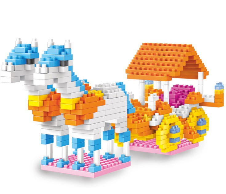 DIY Fairytale House Assembling Building Blocks font b toy b font Micro Diamond Small Particles Castle