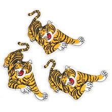 Лучшее качество Большой тигр вышитые патчи можно гладить на патч для одежды платье украшения Diy свой собственный дизайн