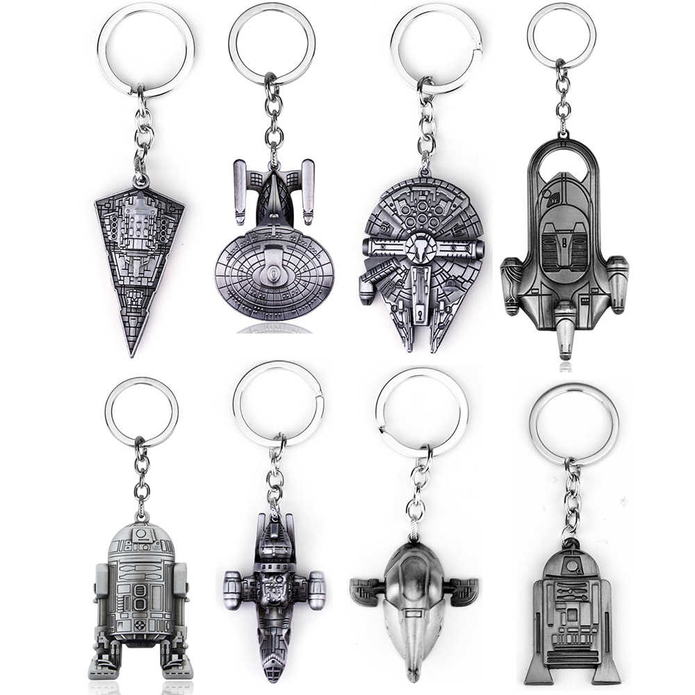 Hot Movie Star Wars Spaceship Key Chains Holder Fashion Falcon Metal Alloy Pendant Keyrings Keychain Jewelry Gift For Man