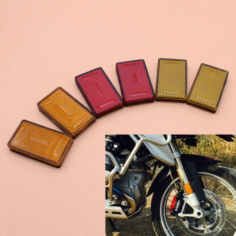 1pair Motorcycle 3colors Front Fork Leg Reflector For <font><b>BMW</b></font> K1200RS K1200 GTR1200RT R1200GS <font><b>R1200R</b></font> New image