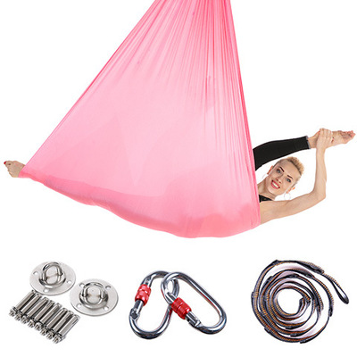Sports & Entertainment Nice Elastic 5 Meters 2018 Aerial Yoga Hammock Swing Latest Multifunction Anti-gravity Yoga Belts For Yoga Training Yoga For Sporting Quality First Fitness & Body Building