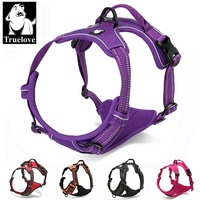 Truelove Soft Dog Harness No Pull Vehicle Vest Basic Halter Harness Quick Release Stainless Steel Ring Bulldog Petshop Dropship