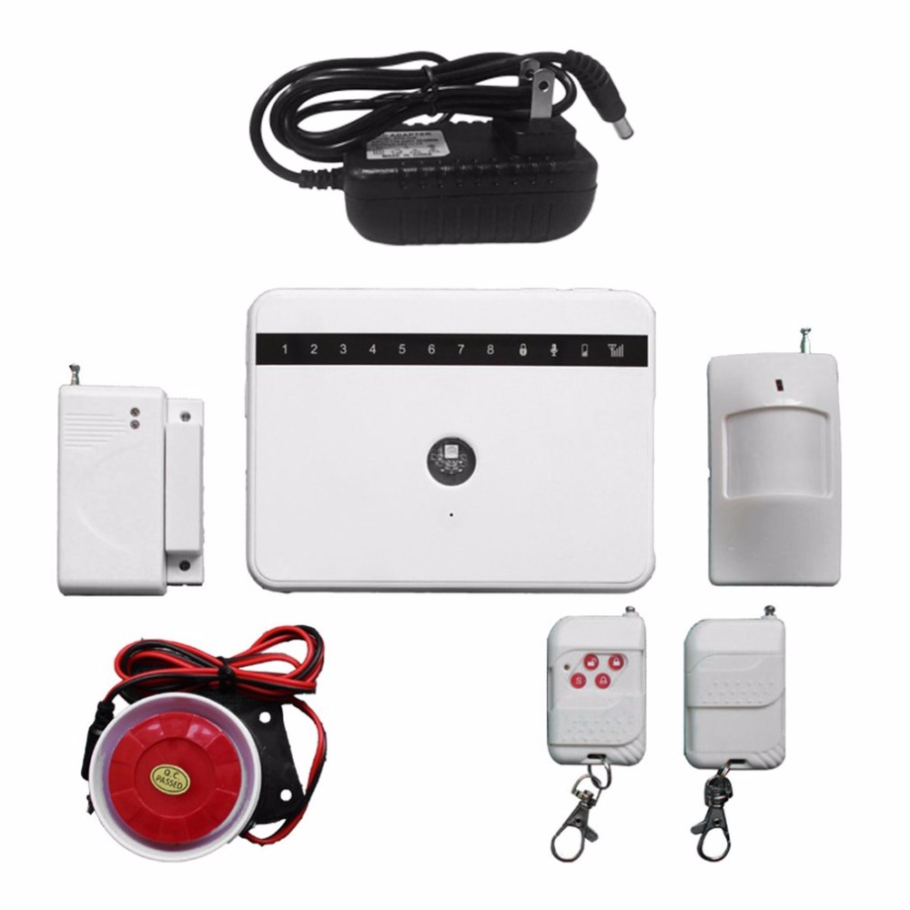 Ultra-thin SOS Button GSM Alarm System Wireless Remote Control Home Security Burglar Fire Alarm System Kit G63 dual network gsm burglar alarm system mobile remote control