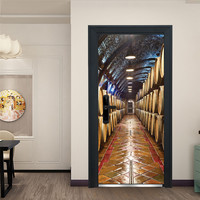 Dropshipping Door Sticker Decorative Painting Bedroom Living Room TV Wall Decoration