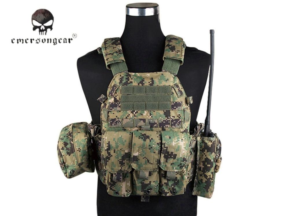 Adaptable Emersongear Lbt6094a Stijl Tactical Vest Met 3 Zakjes Jacht Airsoft Militaire Combat Gear Aor2 Em7440f
