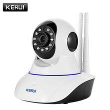 KERUI Wireless WiFi IR Cut IP Camera HD 1MP CMOS Security CCTV IP Camera Alarm PT, Retail box. For wifi and GSM sms alarm system