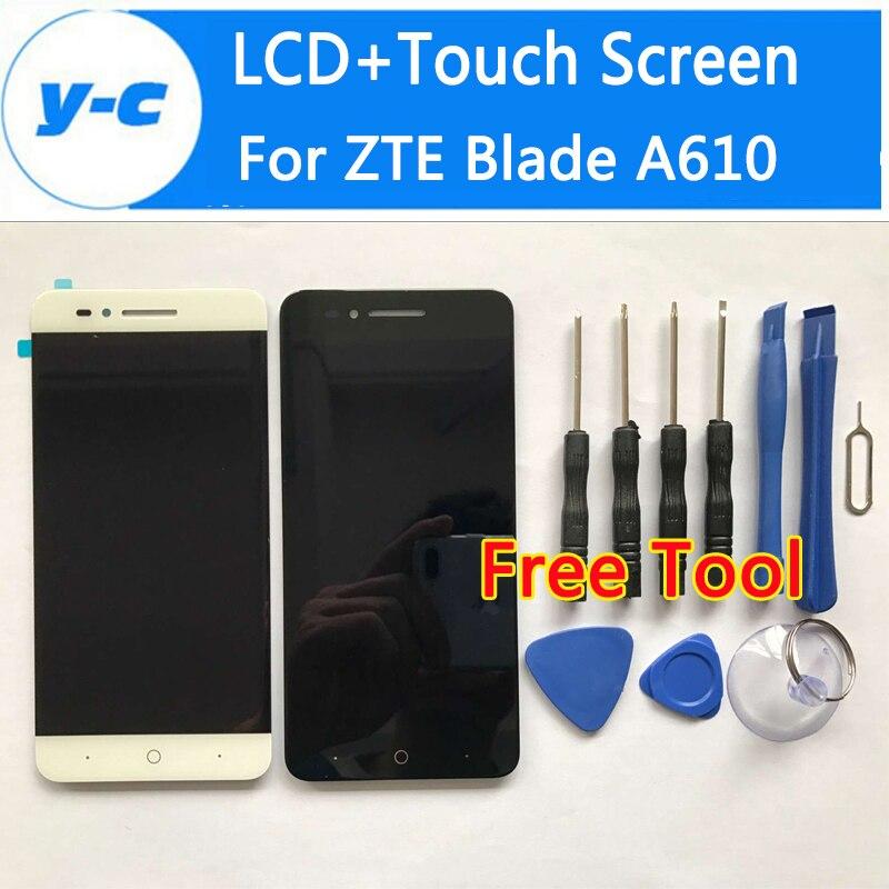 Para zte blade a610 lcd + pantalla táctil de la alta calidad 100% nuevo panel de